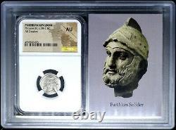 Parthian Kingdom Phraates IV Ar Tétradrachme Argent 38-2 Bc Ngc Au Story Vault