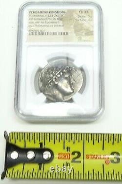 Pergame Kingdom Philetaerus C. 284-263bc Ar Tetradrachm(16.80g) Ngc Ch Xf