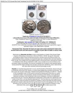 Phaselis En Lycia Argent Ancien Grec Tetradrachme Pièce Alexander III Ngc I85683