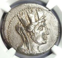Phenicia Aradus Ar Tetradrachm Coin (tyche, Nike, 62 Bc). Ngc Xf Certifié (ef)