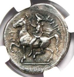 Philip II Ar Tetrachm Zeus Argent Pièce 359-336 Bc Ngc Ch Xf Avec Style Fin
