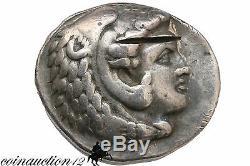 Philippe III Arrhidée Macedon Tétradrachme D'argent Coin 323-317 Bc Heracles Zeus