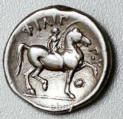 Philippe II 354-336bc Superbe Et Très Rare Ar-tetradrachm