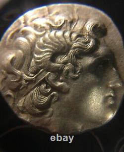 Pièce De Monnaie Grecque Antique/ar Argent Tetradachme /lysimachos /macedonian323-281bc