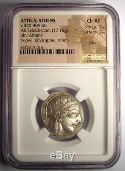 Pièce De Tétradrachme Athena De La Grèce Antique Athena 440-404 Av.