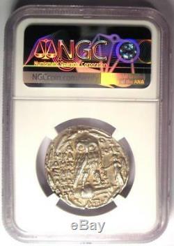 Pièce De Tétradrachme Athena Owl De Style Nouveau Athènes (100 Av. J.-c.) Certifiée Ngc Xf (ef)