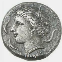 Pièce Grecque Syracuse Ar Tetradrachm / Agathokles, 310-305 Av. J.-c. Arethusa Ex Künker