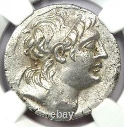 Pièce Seleucid Antiochus VII Ar Tetradrachm 138-129 Bc Certified Ngc Choice Xf