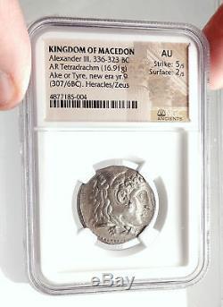 Pneu Alexander III The Great 307bc - Ancien Argent, Pièce De Tétradrachme Grecque I75081
