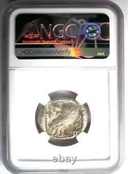 Proche-orient / Egypte Athena Owl Athènes Tetradrachm Coin (400 Av. J.-c.) Certifié Ngc Au