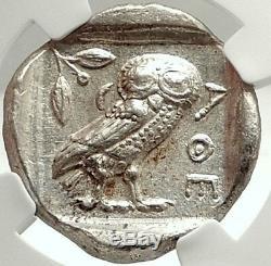 Proche-orient Ou En Egypte Type D'athènes Argent Grec Tétradrachme Coin Owl Ngc I74776