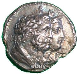 Ptolémée IV = Serapis Et Isis, Silver Tetradrachm 11gm Argent 221-204 Av. J.-c.