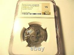 Ptolémée Ll, 285-246bc Argent Tetradrachm Ngc Certifié (vg) Ancien Égyptien