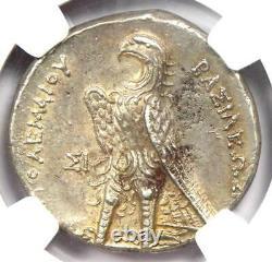 Ptolémée Ptolémée II Ar Tetradrachme Argent Pièce 285-246 Bc Certifié Ngc Au