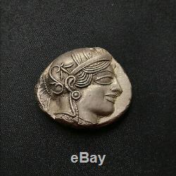 +++ Qualité Extra Ancient Geek Attique Athènes 454-404 Athena Bc Owl Tetradrachm +++