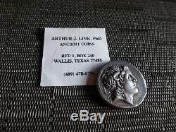 Rare! Ar Tetradrachm 297-281 Bc Rois De La Thrace, Lysimaque Silver Coin 16,64 G