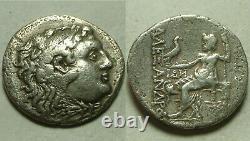 Rare Pièce D'argent Grecque Antique Alexander Macédoine Messembria 323 Héracles/zeus