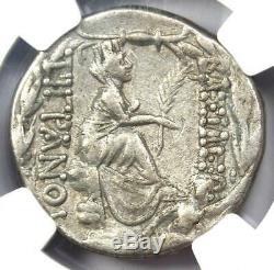 Rois D'arménie Tigrane II Ar Tetradrachm Coin 95-56 Bc Tyche Ngc Xf (ef)