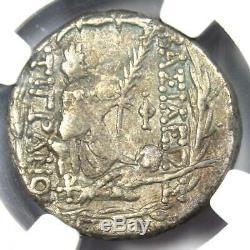 Rois D'arménie Tigrane II Ar Tetradrachm Monnaies 95-56 Bc Tyche Ngc Choix Vf