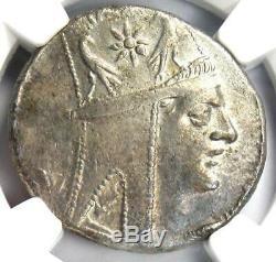 Rois D'arménie Tigrane II Ar Tetradrachm Monnaies 95-56 Bc Tyche Ngc Xf Choix