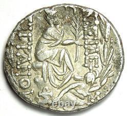 Rois D'arménie Tigranes II Ar Tetradrachm Coin 80-68 Bc Vf (corrosion)
