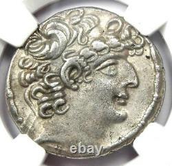 Roman Antioch Philip I Philadelphus Ar Tetradrachm 47-13 Bc Certifié Ngc Xf