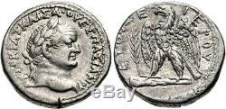Roman Antioch, Syrie Vespasien Ad 69-79 (année 71 Ad) Ar Tetradrachm Ngc Xf 5 + 4