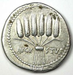 Roman Augustus Ar Cistophorus Tetradrachm Silver Coin 25-20 Bc Vf / Xf