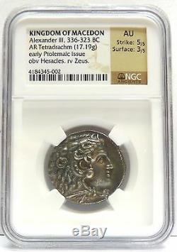 Royaume De Macedoine Alexandre Iii, 336-323 Bc Ar Tetradrachm 17.19g Au Coin Ngc