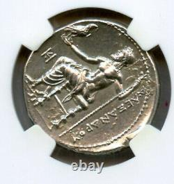 Royaume De Macédon Alexander III Tetradrachm Ngc Au