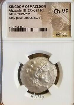Royaume De Macedon Alexander III Tetradrachm Ngc Choice Vf Ancient Silver Coin