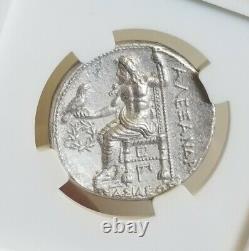 Royaume De Macedon Alexandre III Tetradrachm Ngc Choice Au Pièce D'argent Antique