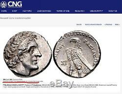 Royaume Ptolemaique Ptolémée II (285-246 Av. J.-c.) Tétradrachme Ar Ngc Ch Au Ex Gnv