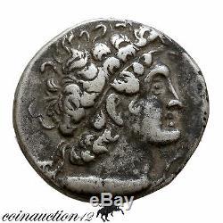 Royaume Ptolémée Ptolémée X Alexandrie Ar Tétradrachme 101-100 Av. Jc Année 14