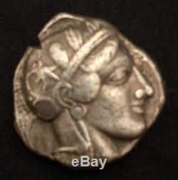 Sammler Antik Griechische Eule Pièce De Monnaie Tetradrachme Antique Grecque Argent