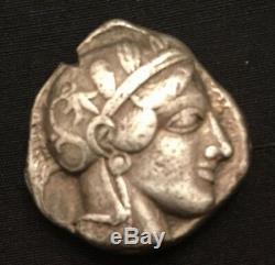 Sammler Antike Griechische Eule Münze Tetradrachme Antique Grec Owl Coin Argent