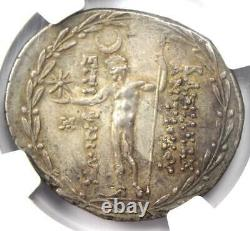 Seleucid Antiochus VIII Ar Tetradrachm Coin 121-96 Bc Ngc Au 5/5 Strke