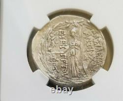 Seleucid Kingdom Antiochus VII Tetradrachm Ngc Vf Pièce D'argent Antique