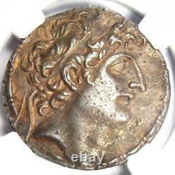 Séleucide Antiochus VIII Ar Tetradrachm Coin 121-96 Bc Certifié Ngc Choix Vf