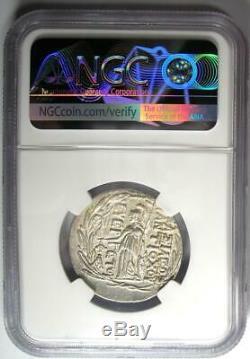 Séleucide Antiochus VII Ar Tetradrachm 138-129 Bc Coin Certifié Ngc Choice Au