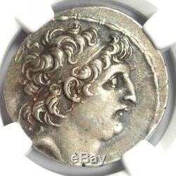 Séleucide Antiochus VII Ar Tetradrachm 138-129 Bc Coin Certifié Ngc Xf Choix
