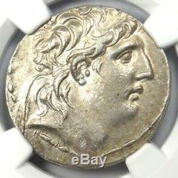 Séleucide Antiochus VII Ar Tetradrachm Coin 138-129 Bc (athena, Nike) Ngc Au
