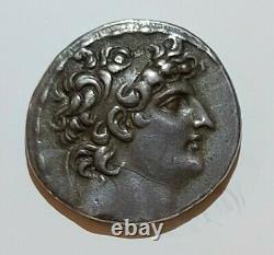 Séleucide Silver Tetradrahm, Antiochos VIII Epiphanes 121-97bc, Beautiful Tone
