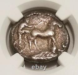 Sicile, Messana Tetradrachm 480-456 Bc Ngc Fine Ancient Silver Coin