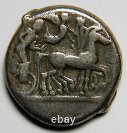 Sicile Syracuse Hieron I Ar Tétradrachme Environ 478-475 Bc Vf 16,60 Grammes, 23 MM