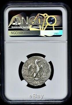 Syrie Antioche Nero Ad 54 Ar Tétradrachme D'argent Aigle Rv Sur Fulmen Ngc Vf 5/5 3/5