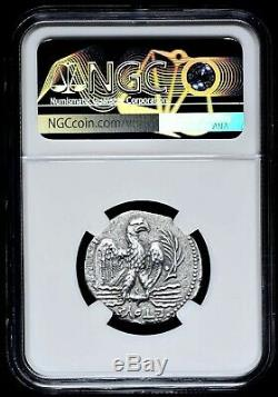 Syrie Antioche Nero Ad 54 Ar Tétradrachme D'argent Aigle Rv Sur Fulmen Ngc Xf