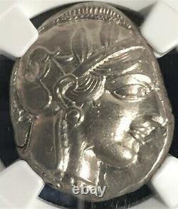 Tétradrachm Athénien 440-404 Av. J.-c. == Ngc Au Strk 5/5 Surf 4/5 == Athena & Owl