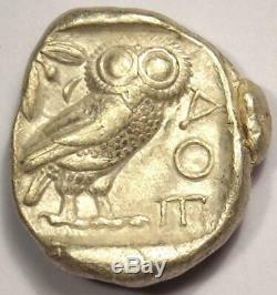 Tétradrachme Athéna Grecque Athènes Grèce (454-404 Av. J.-c.) Choix Vf