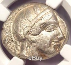 Tétradrachme Athéna Grecque Athènes Grèce Antique (440-404 Av. J.-c.) Ngc Choice Vf